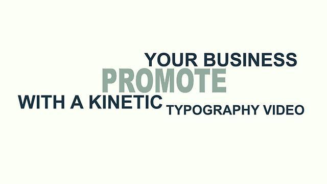 Corporate Branding kinetic Typography and Infographics